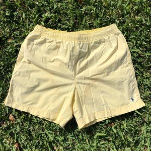 Vintage Yellow Polo Sport Trunks